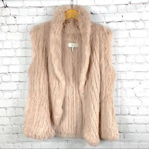 JOIE 100% Rabbit Fur Vest
